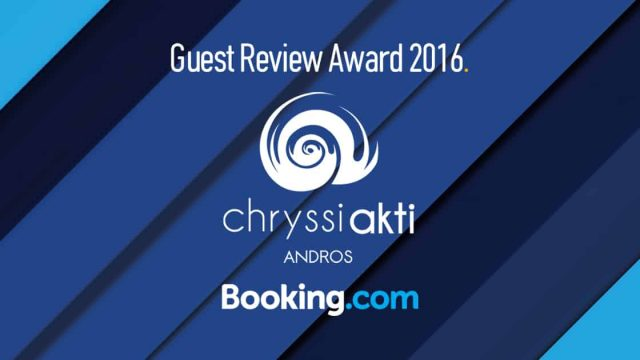Guest Review Award 2016 by Booking.com