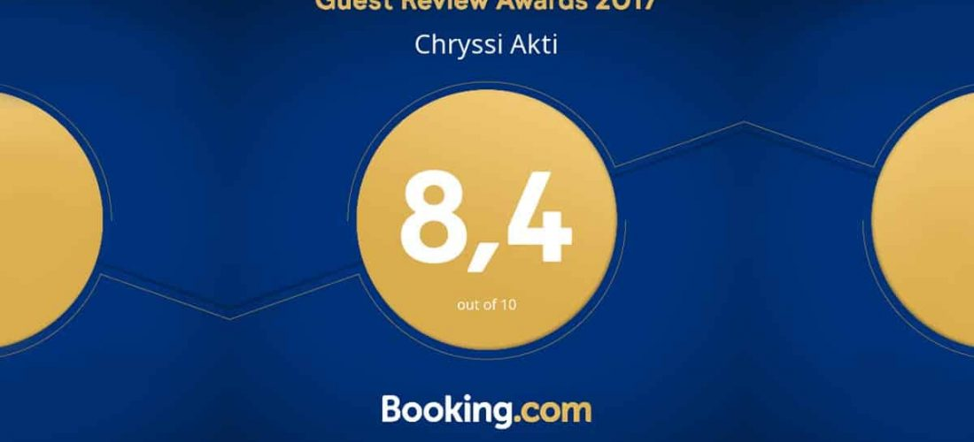 Guest Review Award 2017 από την Booking.com