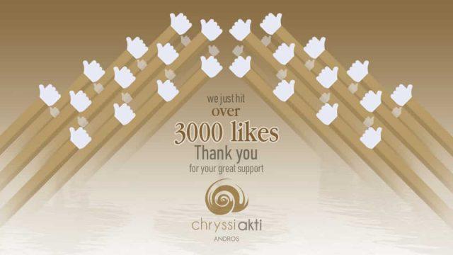 Celebrating 3,000 Facebook likes milestone