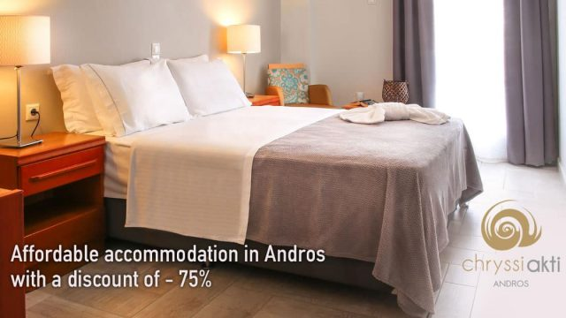 Affordable accommodation in Andros with a discount of – 75%