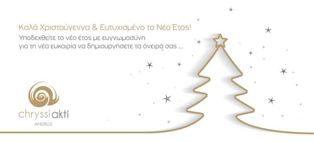 Ευχές από το ξενοδοχείο Chryssi Akti στην Άνδρο!