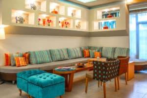 Amenities reception - living room